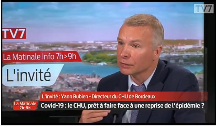 Le directeur général du CHU de Bordeaux, indique que le centre hospitalier est prêt à affronter une deuxième vague de Covid-19