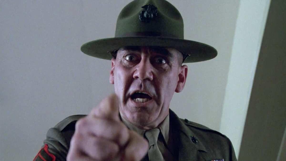 """Le Sergent Hartman dans """"Full Metal Jacket"""" de Stanley Kubrick (1987)"""
