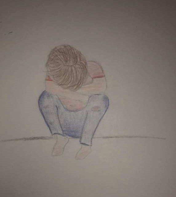 Enfant seul et malheureux
