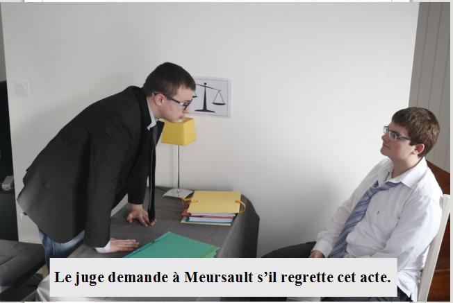 Meursault face au juge