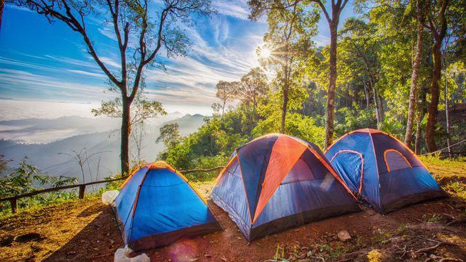 Au camping l'été