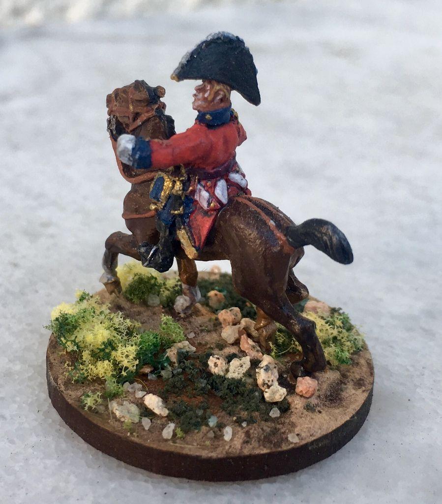 Deux généraux de division : le premier est une figurine Old Glory sur un cheval AB (général Houston), pour le second (général Craufurd) c'est l'inverse !