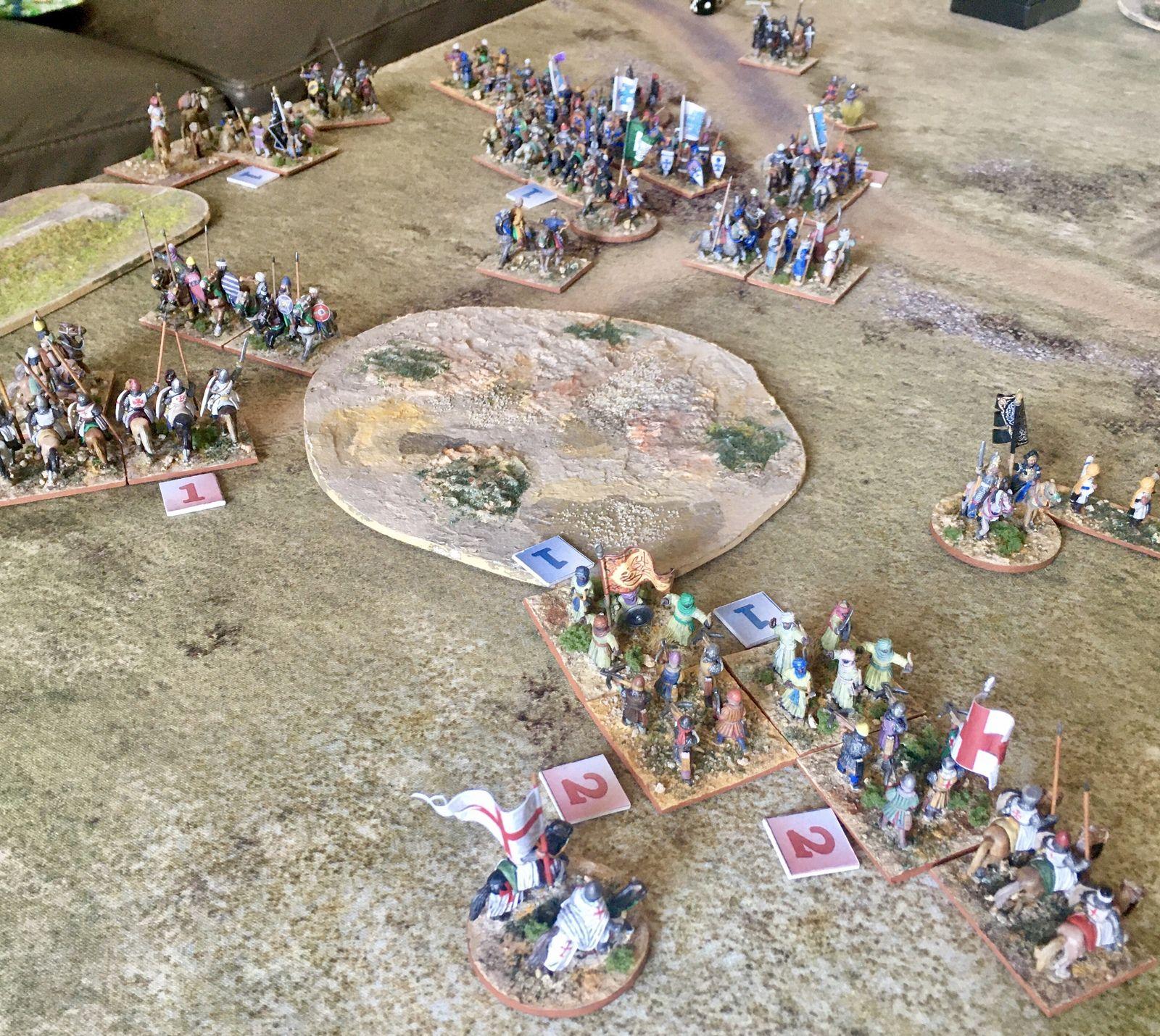 Les archers soudanais se jettent alors sur les arbalétriers templiers pour participer à la curée !