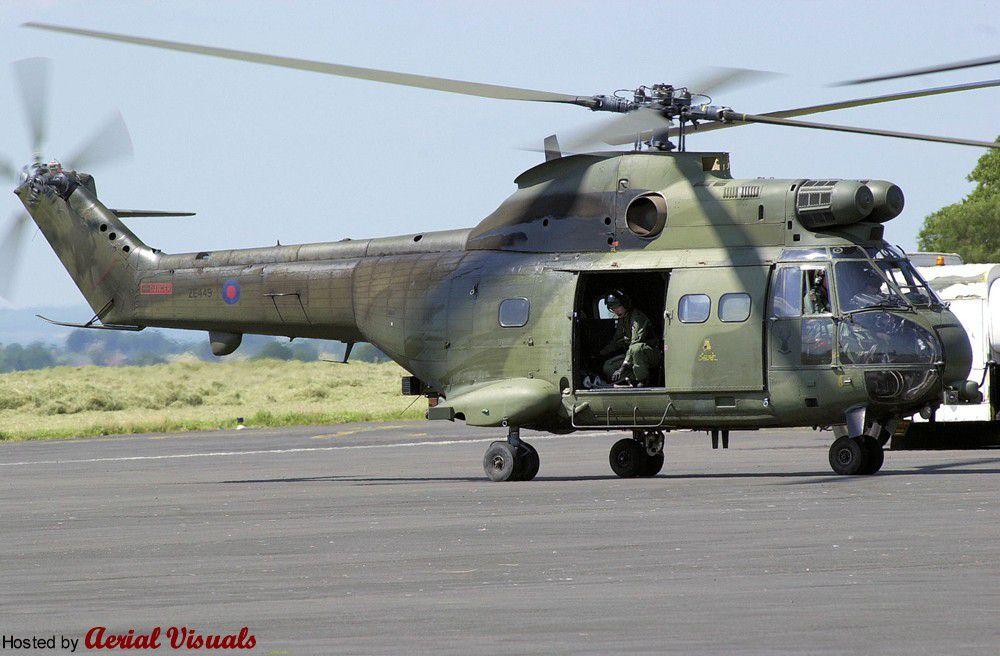 Le Puma PA-12 lors de son transfert et en service dans la RAF après sa remise en état.