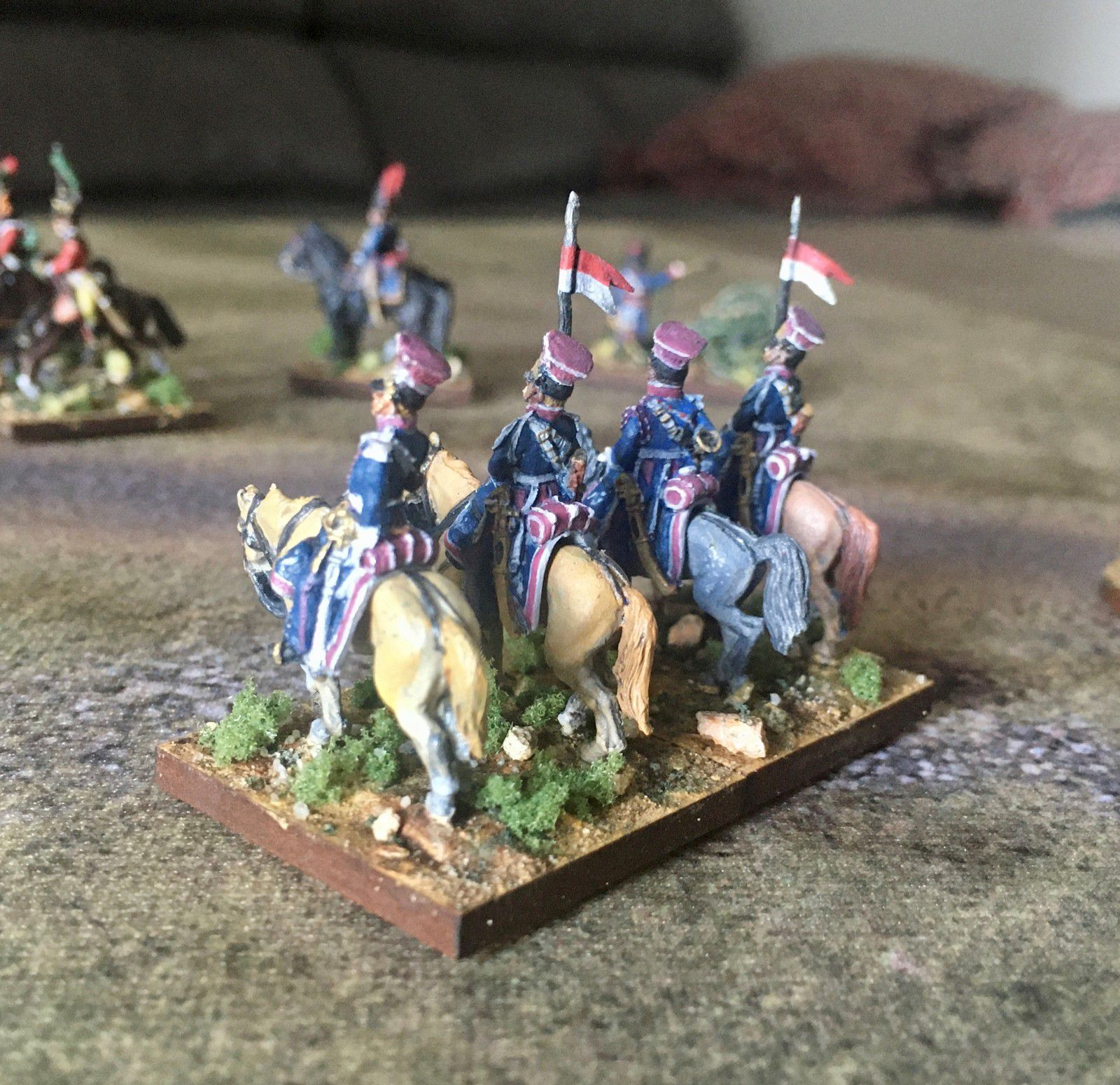 Les lanciers polonais de la Garde.