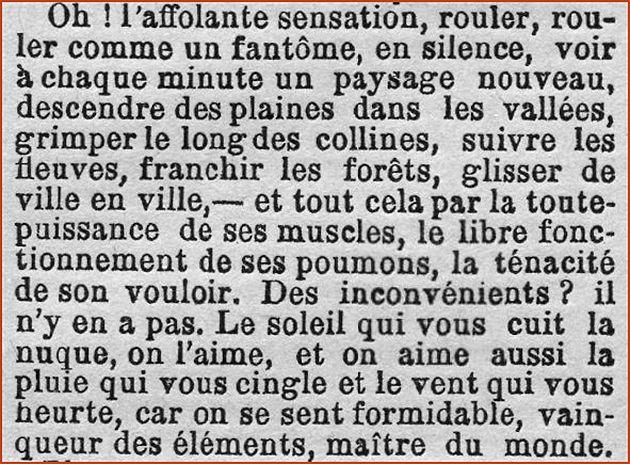 Extrait de l'article « Elle » du 11 juin 1894 dans le quotidien « Gil Blas »