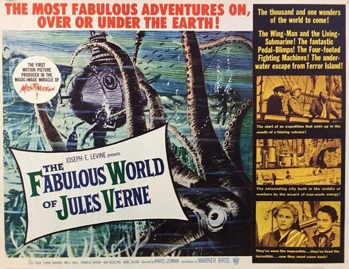 Affiche américaine : The Fabulous world of Jules Verne