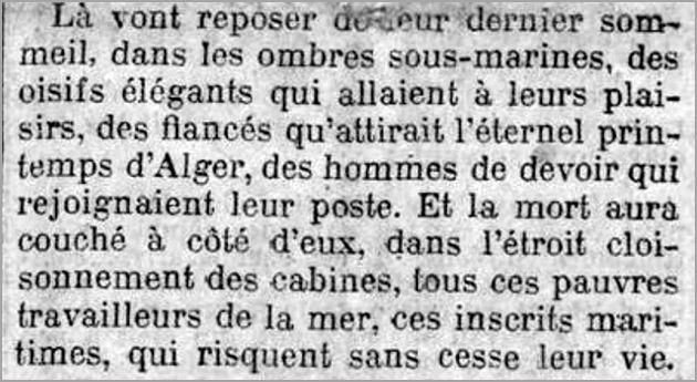 Extrait du Journal du 12 février 1910