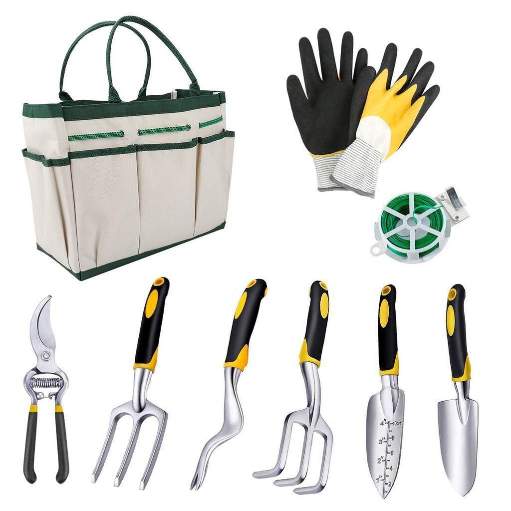 Les Outils De Jardinage Avec Photos powcan outils de jardinage, 9-en-1 ensemble de jardinage en