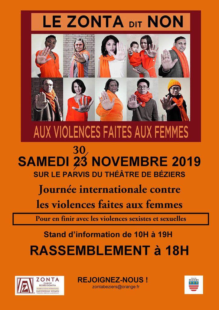Attention ! changement de date pour le rassemblement de Béziers contre les violences faites aux femmes