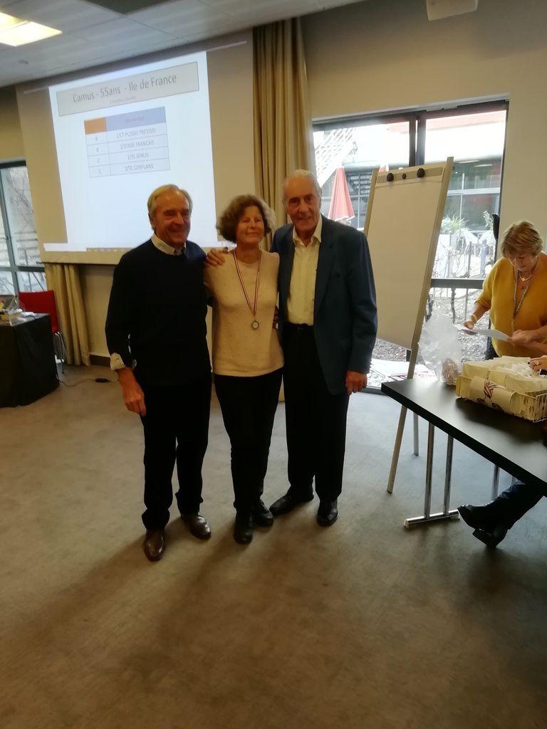 Kjell et Yves avec une joueuse de Jean Bouin