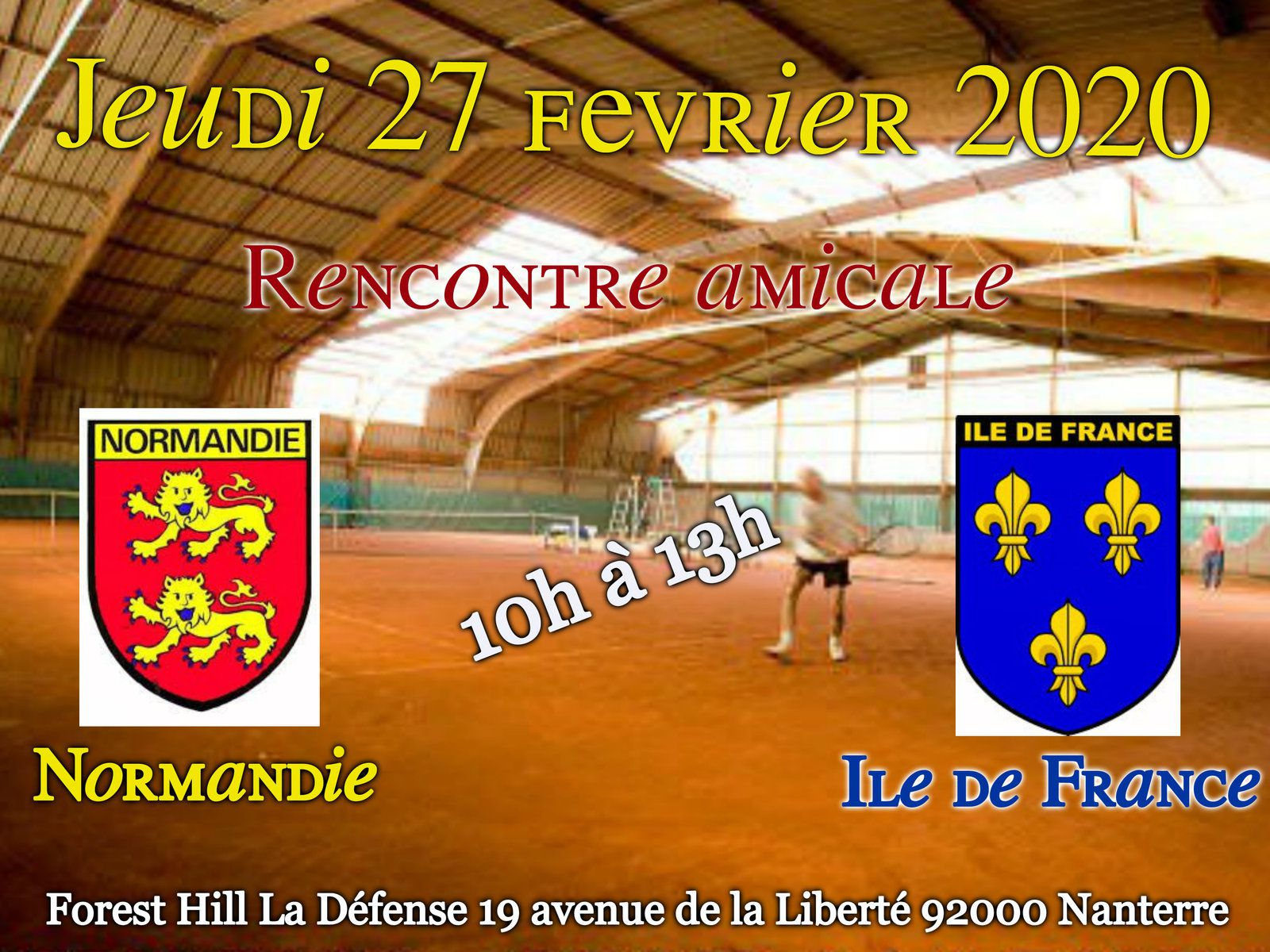 Annulation rencontre amicale AFTS IDF-Normandie