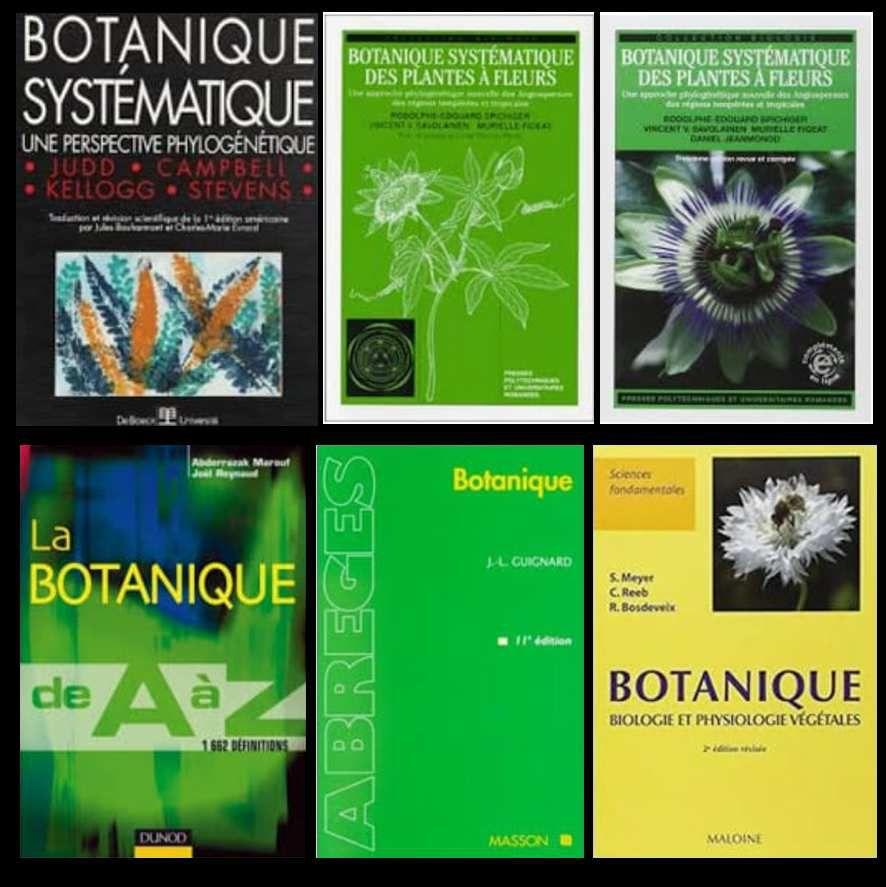 Couvertures des livres proposés aux étudiants de pharmacie et des sciences de la nature et de la vie