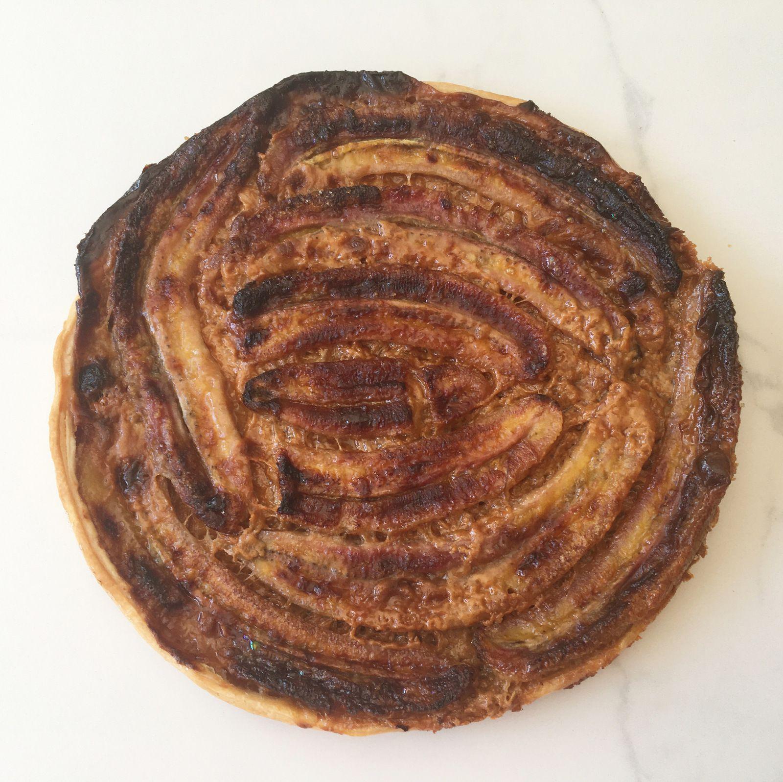 Tarte fine et croustillante façon Banoffee (banane et confiture de lait)