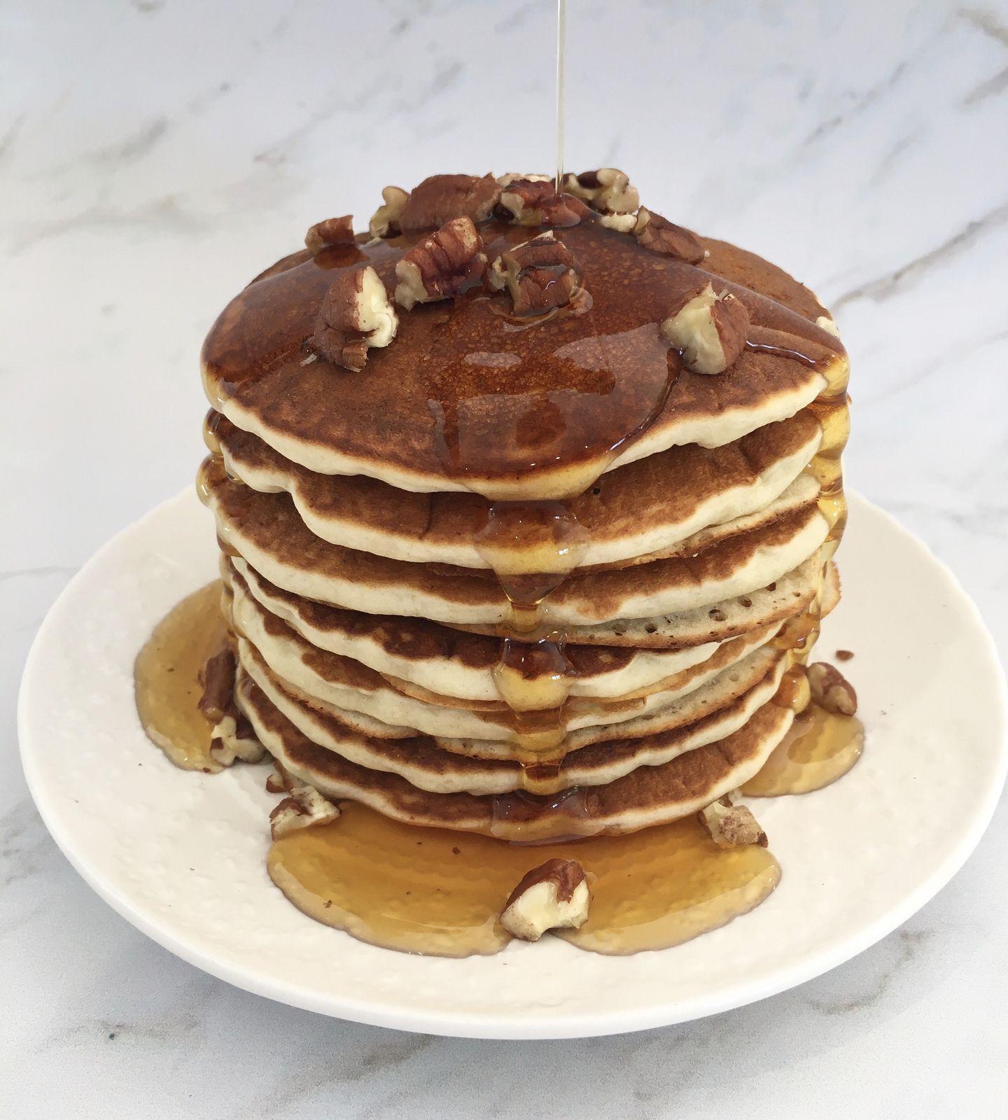 * Les pancakes banane-noix de pécan au Thermomix *