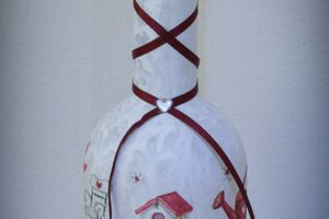 Bottiglia cuore rosso