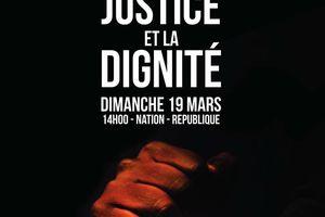 Syndicalistes qui marcheront le 19 mars, pour la justice et la dignité
