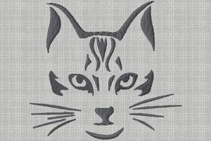 une tête de chat