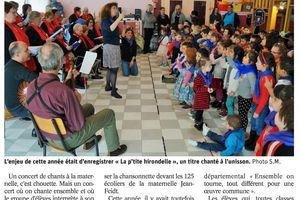 """ER 21 mars 2017 : Les écoliers donnent le """"la"""" aux choristes"""