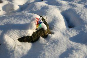 Jeux d'enfant dans la neige,