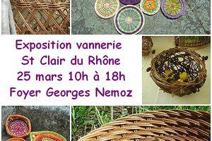 Exposition vannerie à St Clair du Rhône