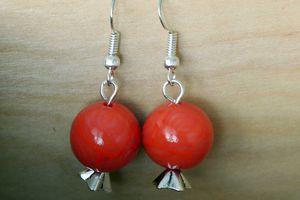 Boucles d'oreilles orange grenade
