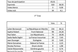 Elections législatives à Poncins
