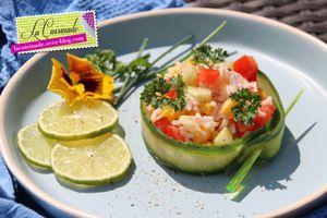 Salade de Riz et Crudités - Végétarienne