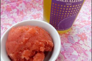 Sorbet fraises & huile d'olive