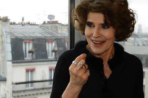 La Roche-sur-Yon. L'actrice Fanny Ardant au Concorde le 28 janvier 2017.