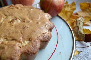Gâteau aux pommes et à la chataigne