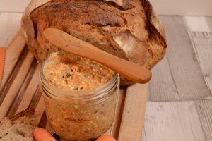 Tartinade carottes haricots féta et curry