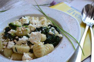 Gnocchi aux épinards et féta