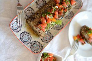 Terrine d'aubergines et sauce tomates