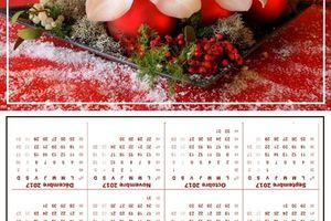 calendrier de poche