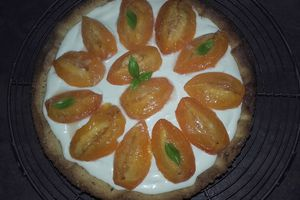 Ma tarte Abricots-Basilic par Vialatte