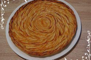 Tarte aux pommes & abricots