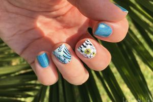 Nail Art Stamping Yours Cosmetics - Tropical Vibes