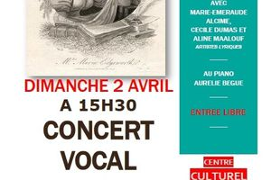 Au Centre Culturel de Queuleu, dimanche 2 avril, à 15 h 30, Concert vocal ''Femmes de plume'' Durée : 1 h 30