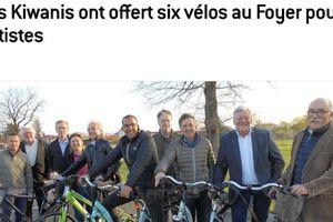 Remise de vélos au Foyer d'accueil médicalisé Chateau D'aix