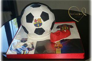Ball Cake - FC Barca - FootBall