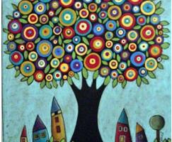 Oeuvres sur les arbres chez Ludivine