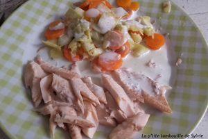 Truite vapeur et sa sauce soja