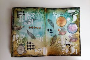"Art journal Page ""Steampunk"""