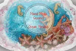 Mixed media Place Challenge - Ocean Paradise with video tutorial
