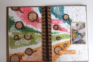 Art Journal Page - Papillon multicolore