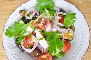 Salades d'Aiguillettes de Poulet & de Porc