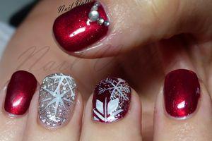 Nail art: Flocons de Noël