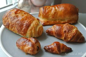 Pains au chocolat , mini Croissants  (Version 2)