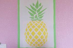 Tableau ananas pour prolonger l'été - DIY